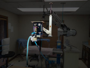 Vetland Anesthesia Machine mounted on ceiling pendant